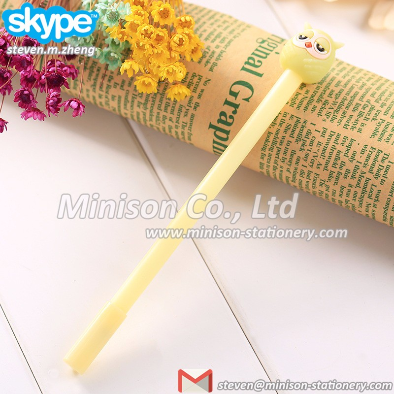 Minison cartoon animal owl design gel pen, rewarding gifts
