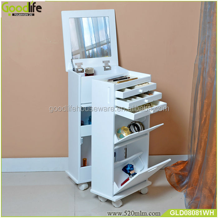 Wooden Cabinet Factory Movable Vanity Dresser With Mirror - Buy ...