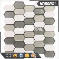 Hexagon Mosaic Pattern Home Depot Marble And Glass Mosaic