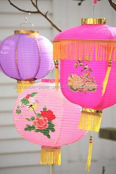 Decorative Chinese Lanterns Wedding Decor Ideas Yiwu Paper Cerise Lantern Accordion Style