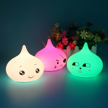 Multicolor changing Rechargeable LED children night light silicone for baby room