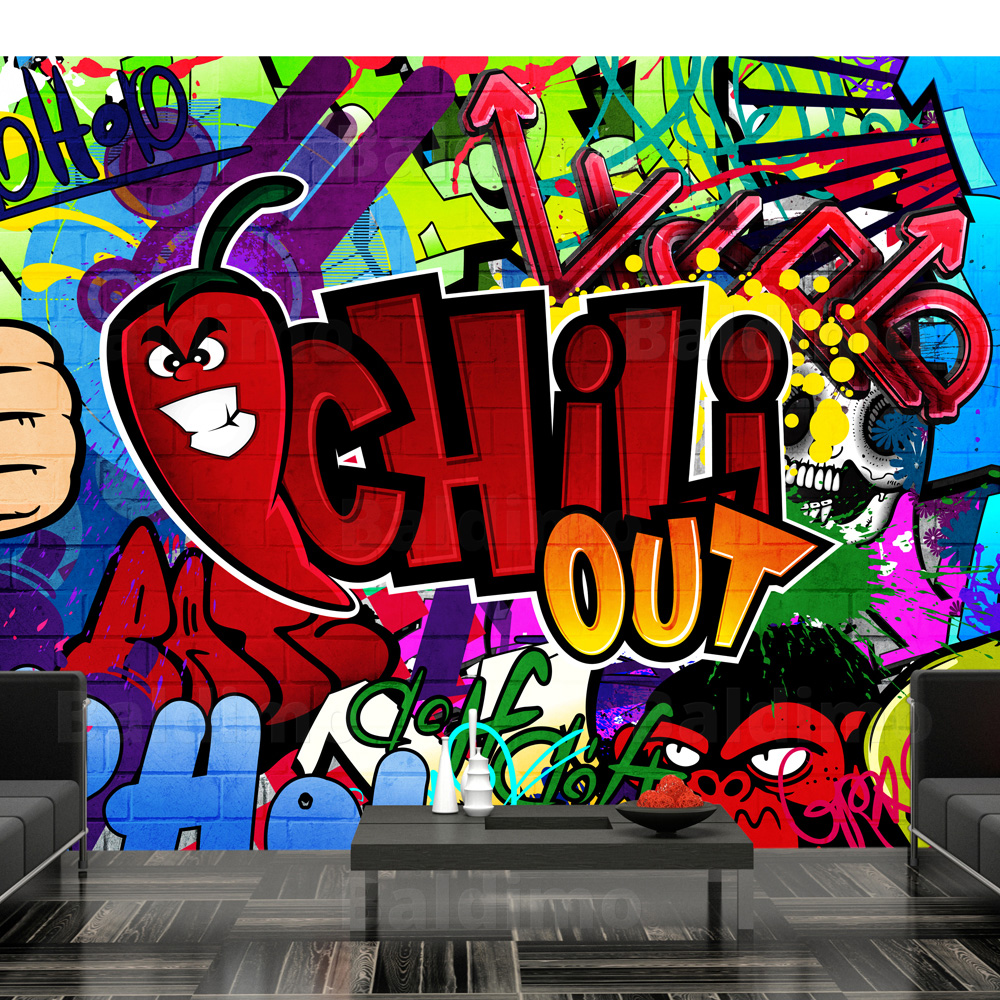 Custom design high quality applicator art graffiti wallpaper mural