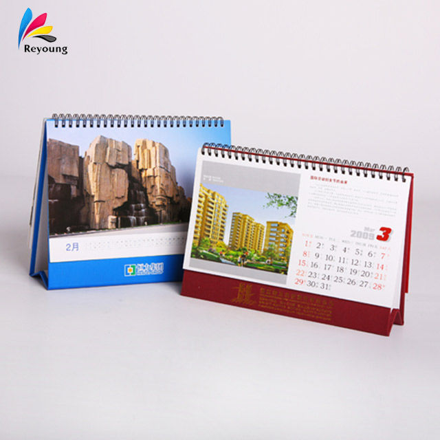 Office & School Supplies Neue Mode Tischkalender Freies Kundenspezifisches Design Und Logo Auf Kalender Kalender