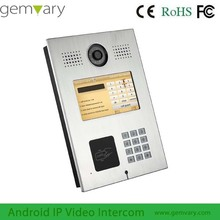 7 inch touch screen Multi apartment wireless video intercom doorbell system