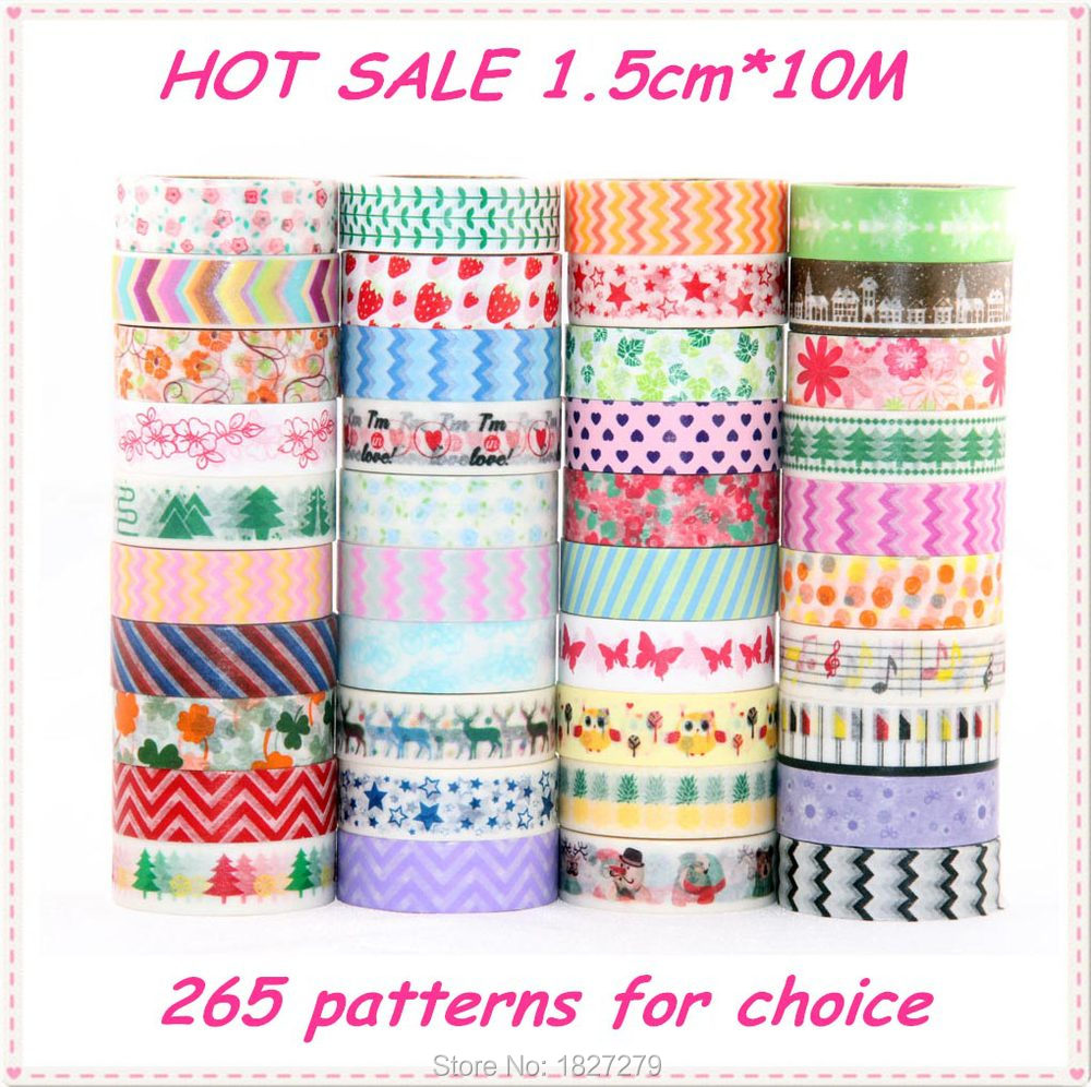 276 Patterns TOP Best Selling Decorative Adhesive Paper Tape and flower masking Washi Tape