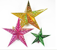 xibao brand High quality Handmade five star Crafts, Chirstmas Star, Indoor Christmas Decoration