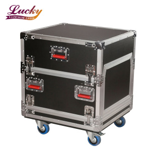 support transport flight case heavy duty 6U Side Audio Road Console Rack case