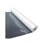 HDPE LDPE Round or square Drawstring plastic drop cloth in roll for painting