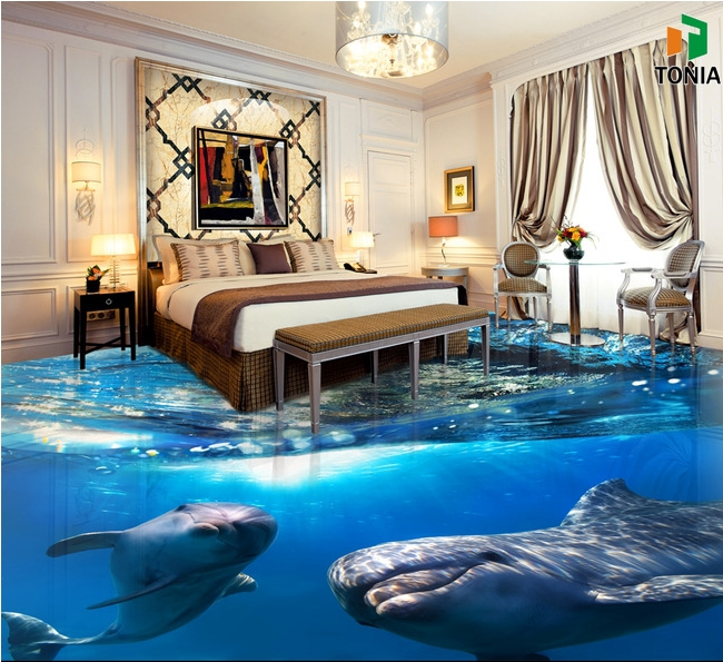 Modern Design House Decoration 3D Ocean Floor Tiles Concept Tiles For  Bathrooms