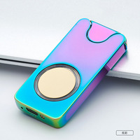 high-end fingerprint led lighter wholesales from china usb lighter rechargeable coil lighter