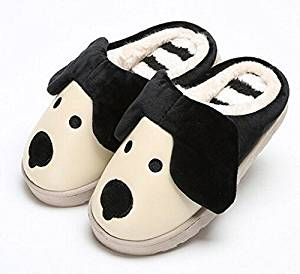 2015 Cute Cartoon Puppy Children Slippers Autumn and winter thick home warm cotton slippers /plush slippers /Anti-skid Home House Slippers Fashion Travel Kid gift Slippers Child Footwear/Slippers