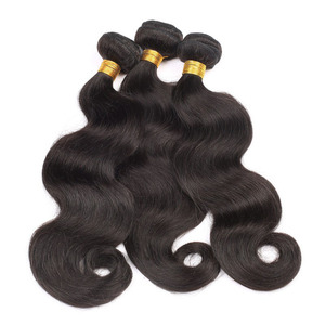 Private Label 22 inch Human Hair Extension HW2643 Color 1B Malaysian Virgin Hair In America