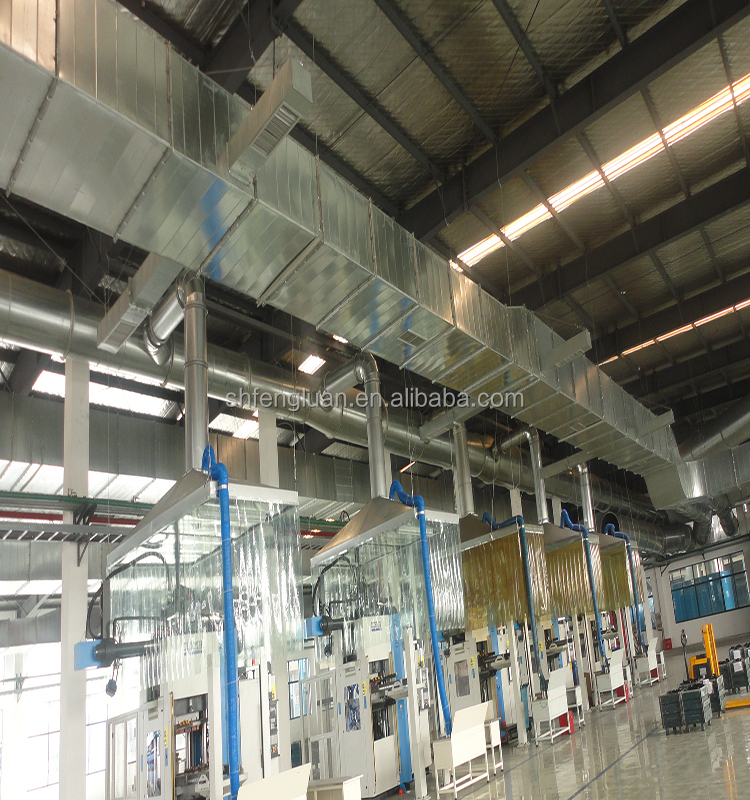 Industrial Ventilation Ducting : Air plenum box of diffuser grille for duct volume