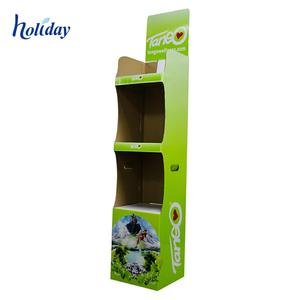 Retail Store Supermarket Cardboard Apple Drink Display Stands Racks For Drink/Water/Milk