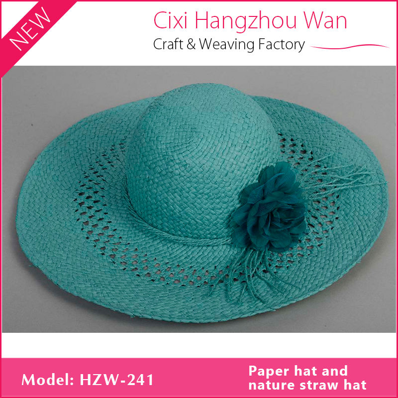 Good quality cheap custom made white fedora straw hats for promotion (SU-PA003)