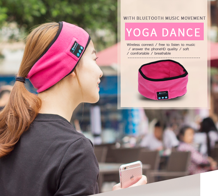 Hot Wireless Sport Headband Wireless Earphone Hat With Microphone Soft Warm Music Cap Smart Speaker Stereo Headset Headphone