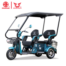open three 3 wheel electric passenger tricycle adults 48V500W china for handicapped disabled scooter price for 2 person