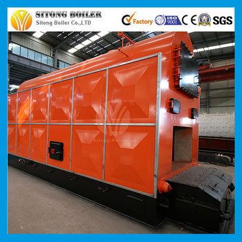 Industrial Horizontal Solid Fuel Wood Coal Steam Boiler 10ton Coal ...