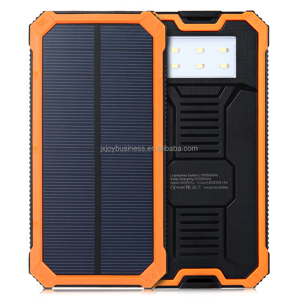 10000mAh 20000mah Dual USB Portable power pack bank mobile cell phone battery solar charger