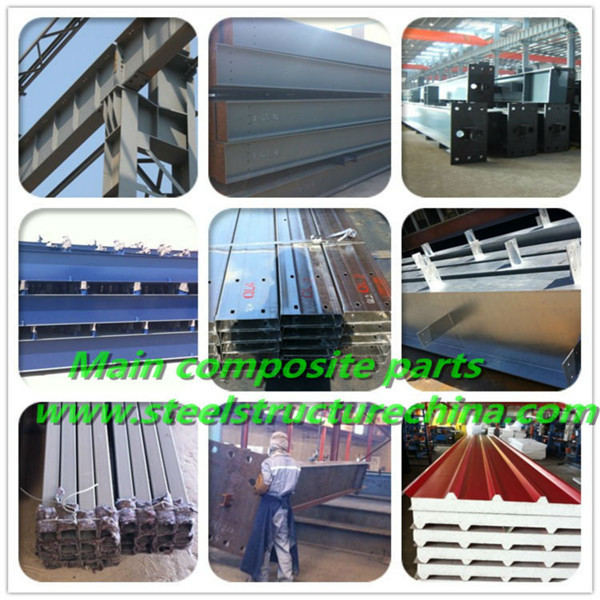 industrial steel structure warehouse with drawing designing