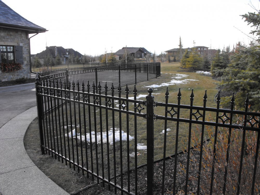 Cheap ornamental backyard metal iron fence buy
