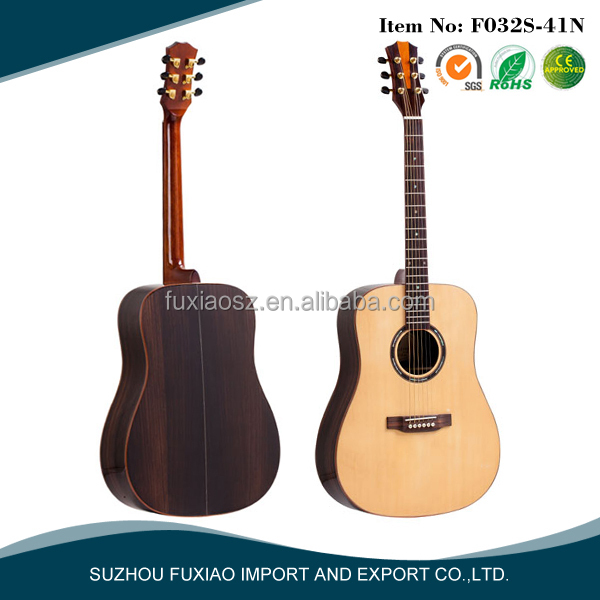 41 inch high quality solid spruce acoustic guitar