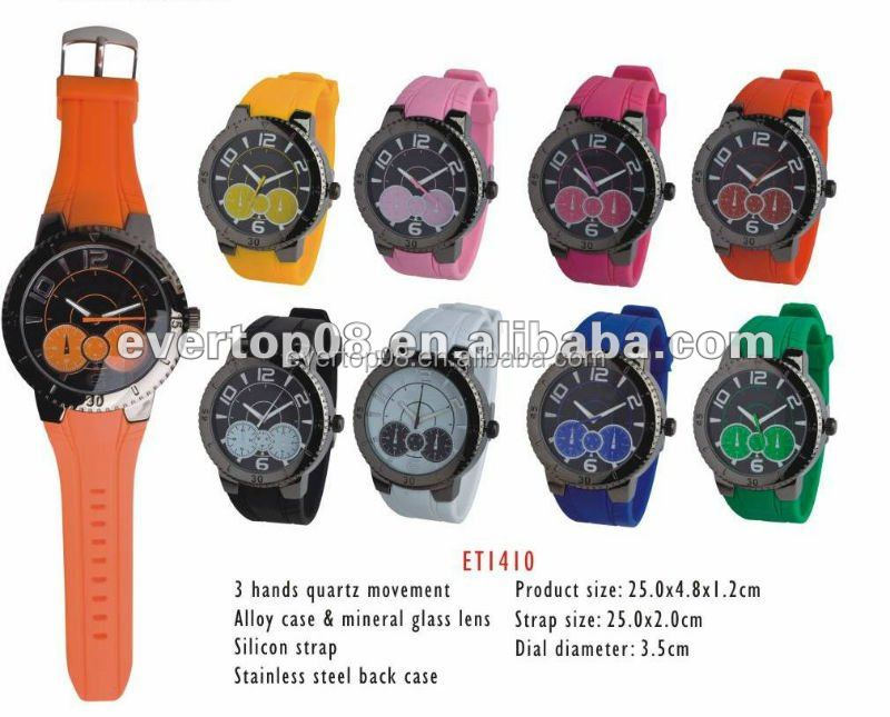 2015 summer hot-sales silicon quartz watch ET1410