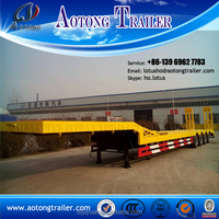Liangshan high quality 3/4 axles low bed semi trailer size optional / 60ton lowbed trailer for sale