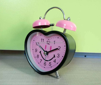 red Modern Kid Alarm Clock with cute shape at low price for retail and whole sales