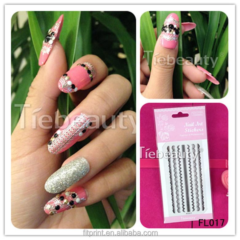 Wholseale White Nfc Nail Sticker Little Lace Nail Art Design Women ...