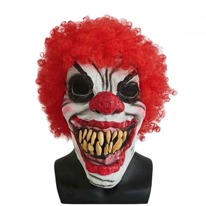 Joker Payaso Mascara Halloween Mascaras De Pestanas Terror De Payaso - Mascaras-de-halloween-de-terror