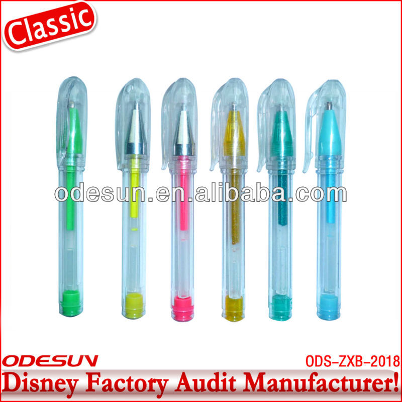 Disney factory audit manufacturer' neon color gel pen 148406