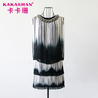 OEM Service Black And White Elegant Latest Short Modern Evening Dresses
