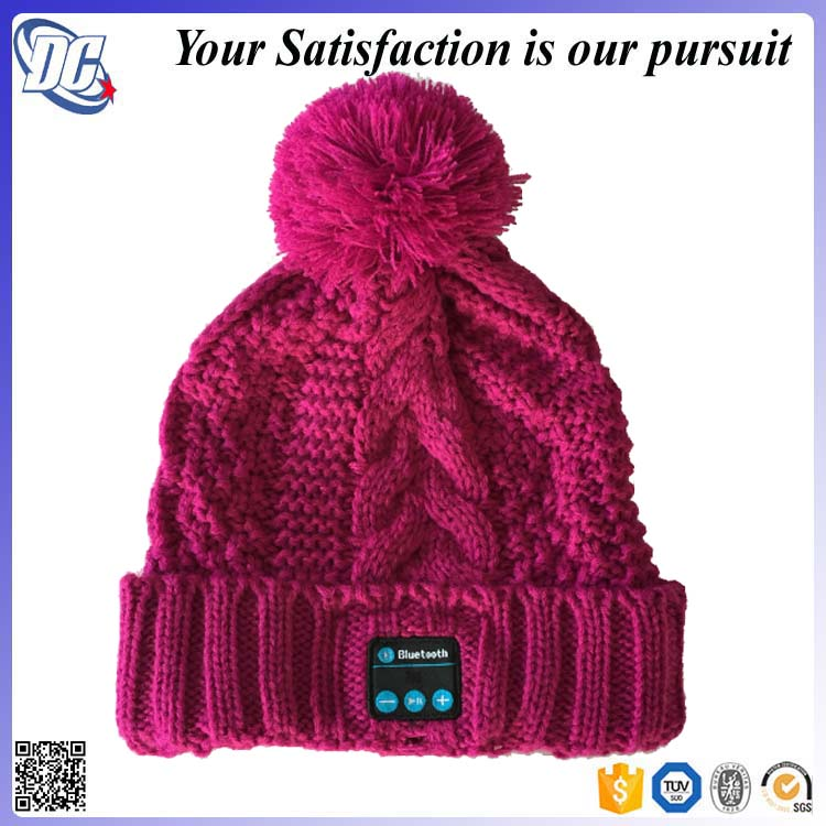 8c4c4884e0c 2017 New Fashion Bluetooth Wireless Music Magic Winter Beanie Hat Speaker  With Headphone Bluetooth Hat