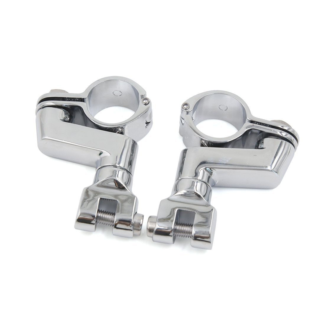 uxcell 1.25 1 1//4 Aluminum Highway Offset P Clamp Footpegs Mount Kit for Harley Davidson Engine Guard Bar