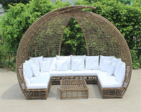 Origin Signature Piece Skyline unique avant garde sofa design patio wicker rattan canopy outdoor daybed