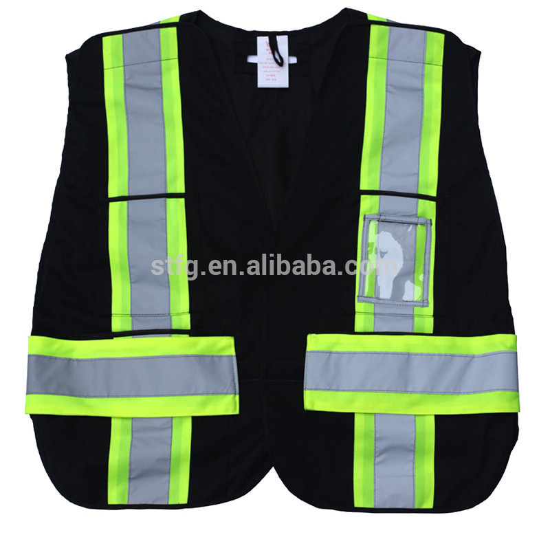 reflective black safety vest hot sell f906e0bcc17