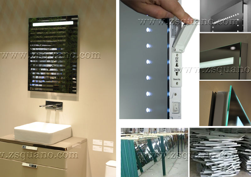 Frameless Bathroom Mirror With Led Light