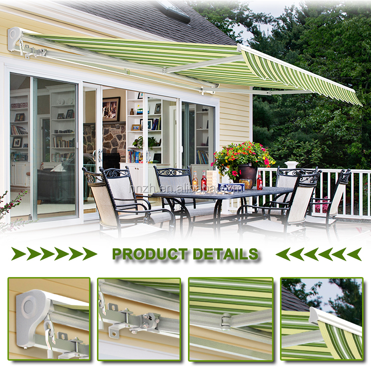 Aluminum outdoor waterproof full cassette awning Motorized retractable awnings
