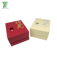 Custom lacquered 6 compartments Chinese gift cardboard tea packaging box with glass top