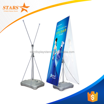 2016 Christmas Outdoor Water Base Flag Banner , Double Sided Poster Display  Stands