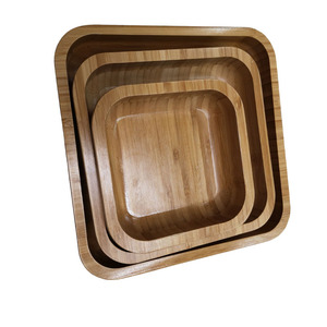 organic bamboo plate, oval serving wood dish wholesale