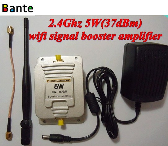 2.4ghz 5w (37dbm) Wifi Signal Booster Indoor Long Range Signal ...