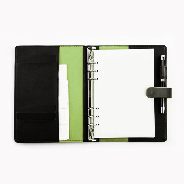 Custom Factory supply PU leather cover notebook with zipper pocket