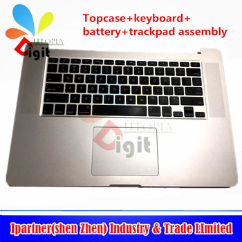 "Test one by one For Apple Macbook retina 15"" A1398 Top Case PalmRest With Keyboard Touchpad Assembly"