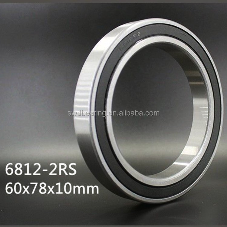 61812-2RS 6812-2RS Thin Section Ball Bearing 60x78x10mm