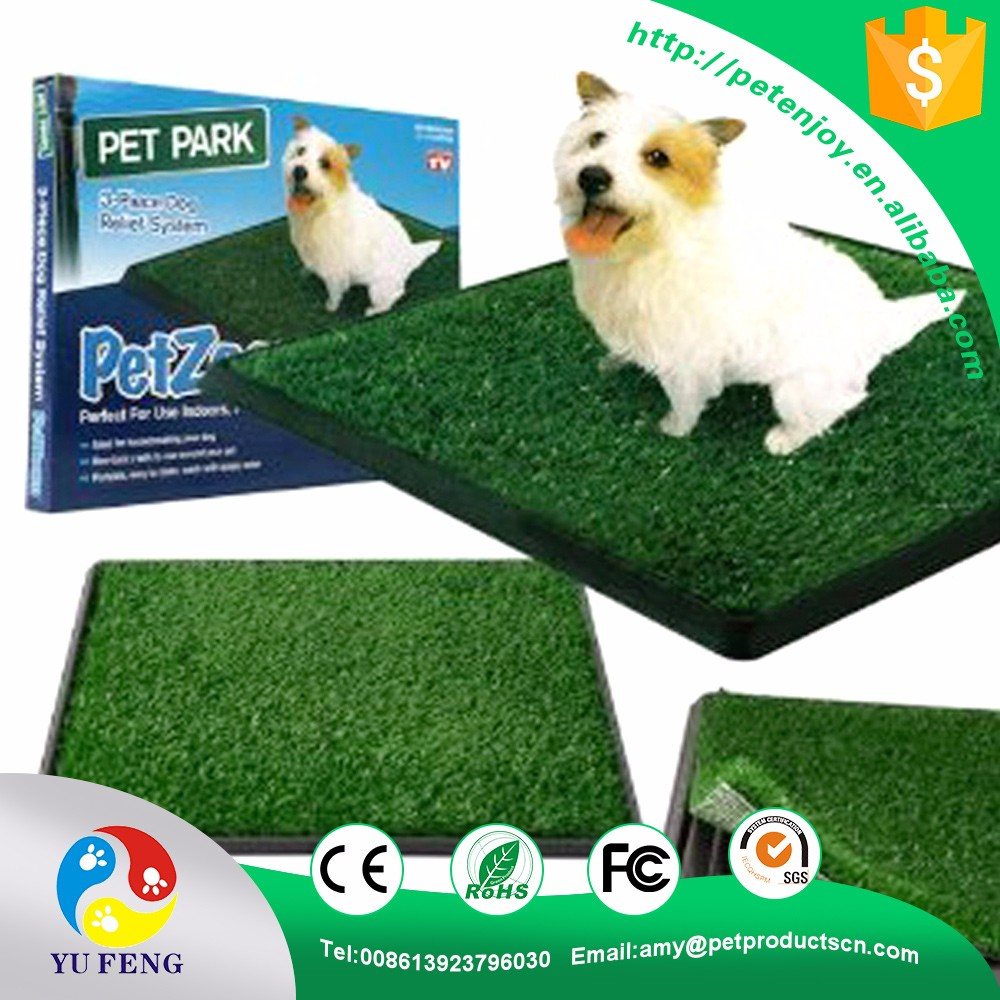 Perfect high efficiency CE RoHS green Portable synthetic grass toilet system pet