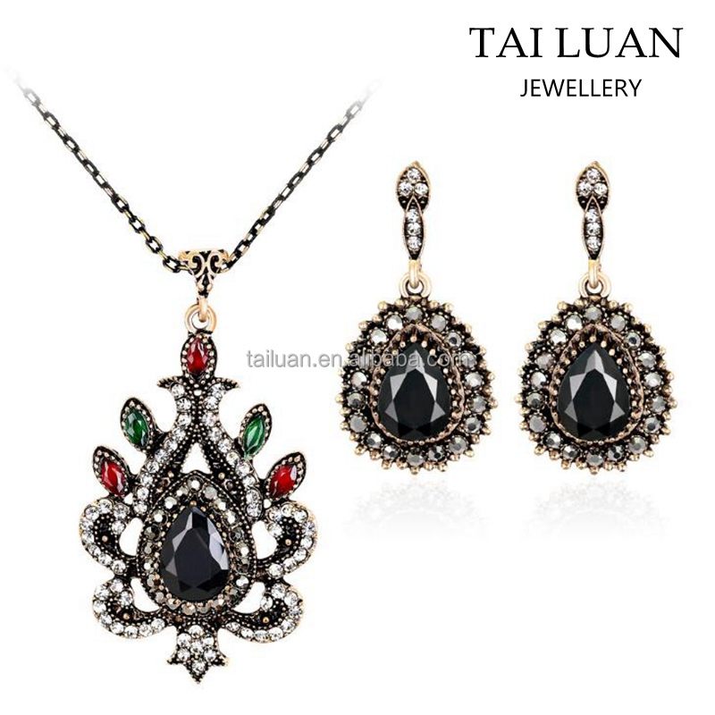 2017 Fashion accessories women jewelry sets artificial kundan fashion jewellery