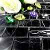 Decoration materials Nero marquina marble, black and white marble tile