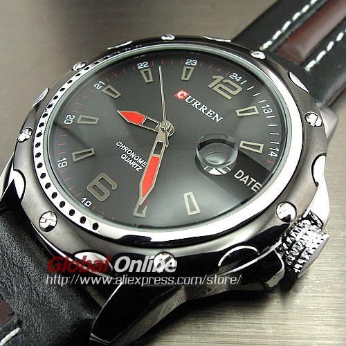 Часы для рук цены. часы рук часы дата черный коричневый кожаные ремни  мужские наручные ... 2f553633c51